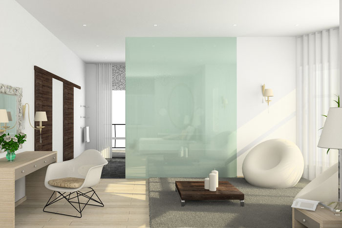 glaswand ideen tipps moderne glas elemente in der. Black Bedroom Furniture Sets. Home Design Ideas