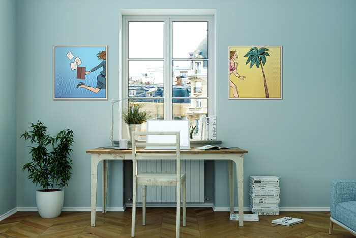 comics kunst an der wand comic cartoons als wohnungsdeko. Black Bedroom Furniture Sets. Home Design Ideas