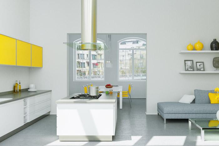 Gelb-Weiße Dekoration