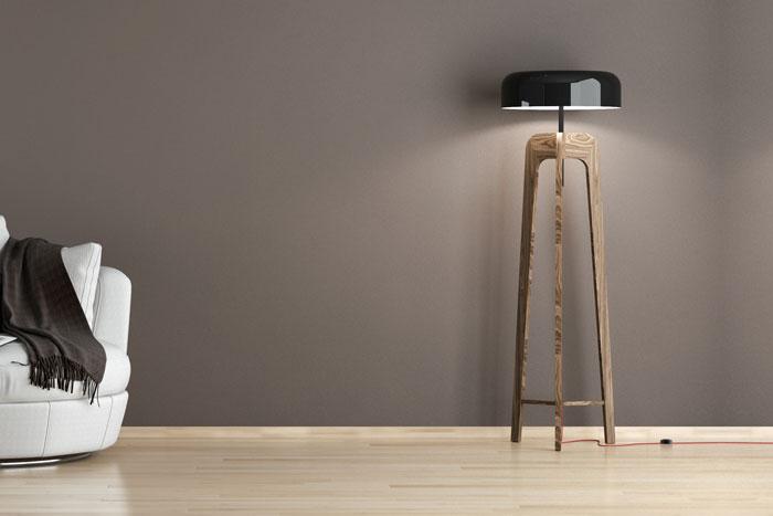 Ideen Zur Wandbeleuchtung - Kreatives Licht Für Wände Moderne Wohnzimmer Stehlampe