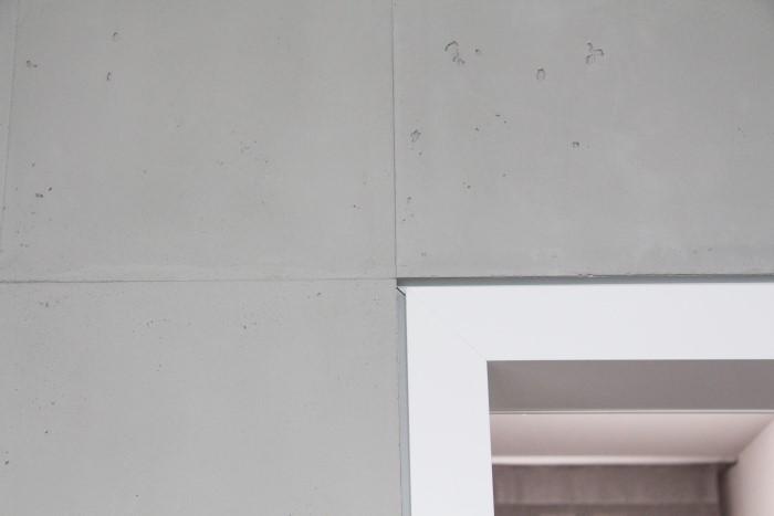 Wand Sichtbetonoptik exakte Stöße