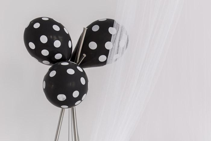 Wanddekoration Luftballons schwarz-weiß