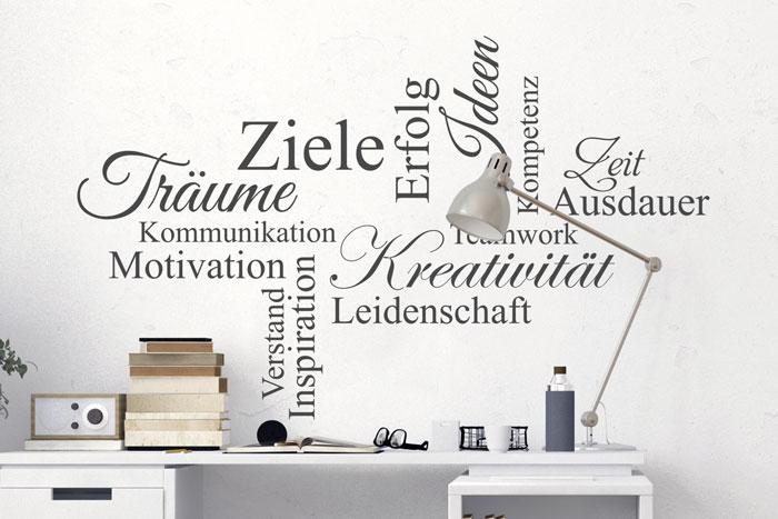 Wandtattoo Wortwolke Kreativität