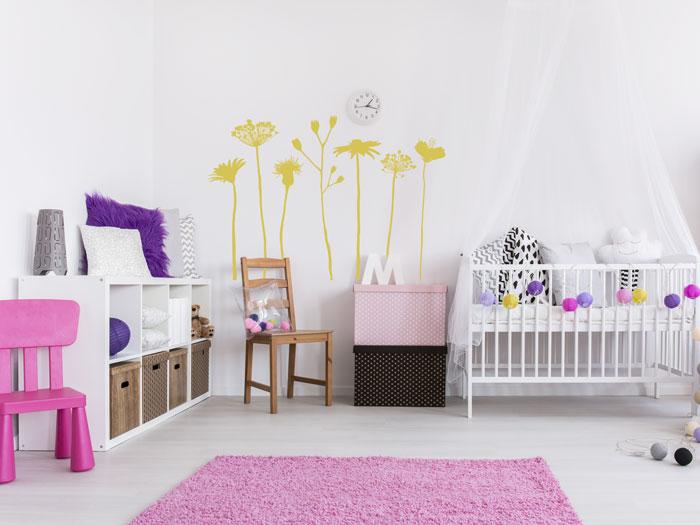 Kinderzimmer bunt gestalten - tolle Ideen & Tipps für die Wände