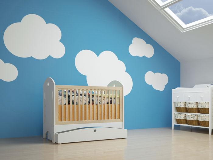 Wunderbar Wolken Kinderzimmer Wand