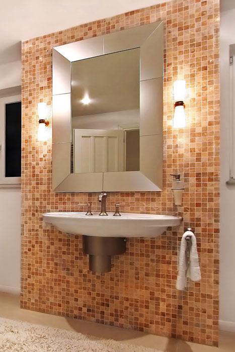 Beleuchtung am Badspiegel