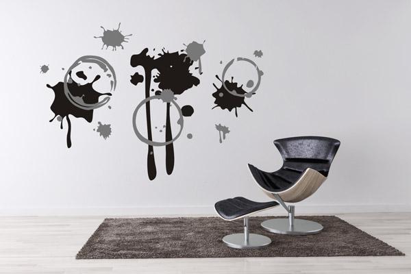 Coole schwarz-weiße Wanddekoration als Wandtattoo