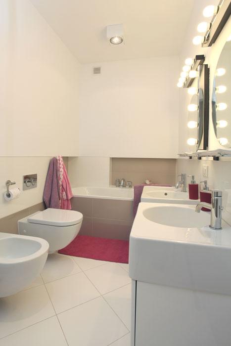 Dekorative Beleuchtung im Badezimmer
