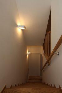Moderne Lampen im Treppenhaus