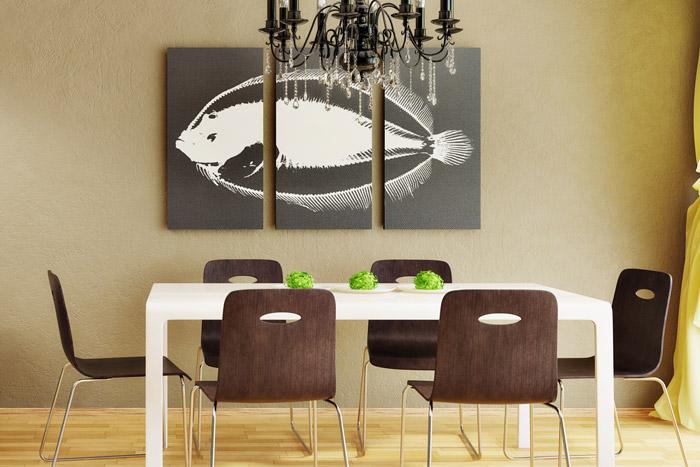 wanddeko im esszimmer 11 ideen tipps f r sch ne w nde. Black Bedroom Furniture Sets. Home Design Ideas