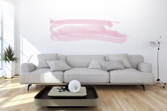 Pastell Akzent An Der Wand