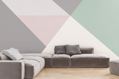 Pastell Dreiecke An Der Wand