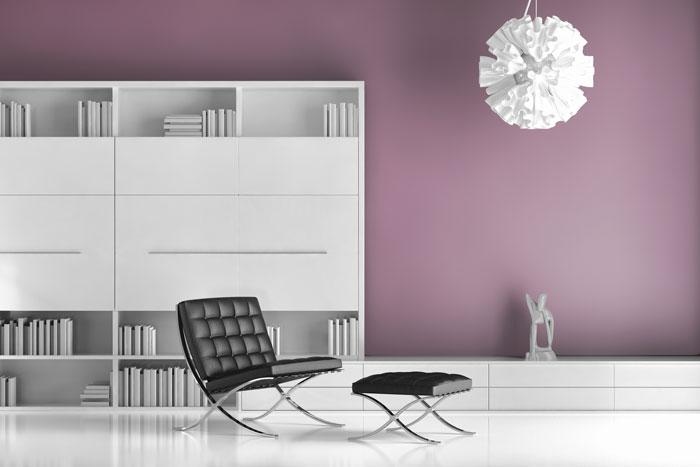 Pastell Violett Wand