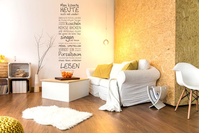 OSB Spanholzplatten als Wand
