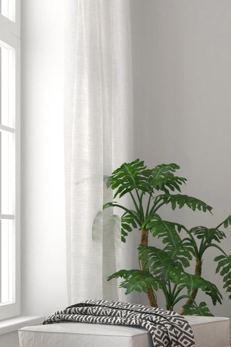 Vorhang im Badezimmer