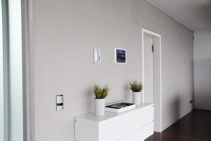 Wand in Sichtbetonoptik
