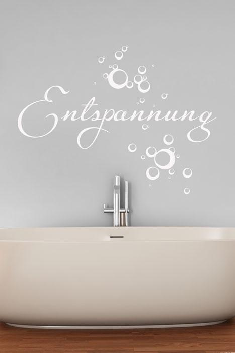 Wandtattoo Entspannung im Badezimmer