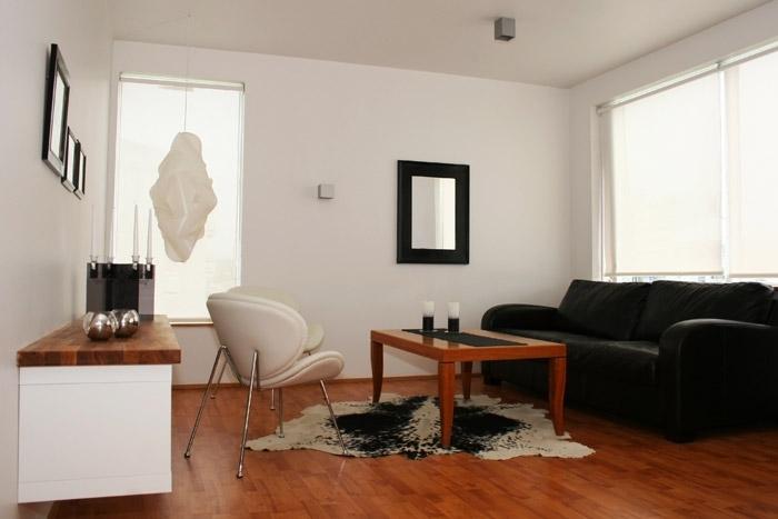Wohnzimmer schwarz-weiss