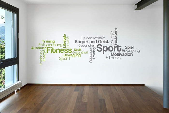 Wortwolke Sport Fitness