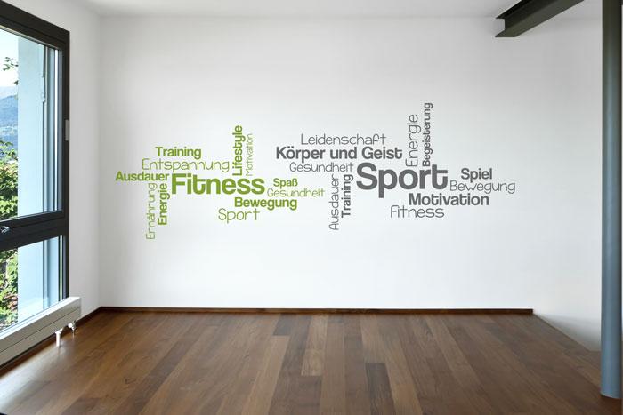 Wortwolke Sport Fitness